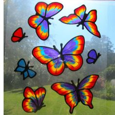 SUNSHINERS STAINED GLASS STYLE WINDOW STICKERS SUNCATCHERS on ...