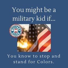 Love this about military kids! Military Memes, Kids, Children, Boys, Children's Comics, Boy Babies, Kid, Kids Part, Child