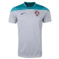 NWT Nike Soccer Portugal Training Jersey 2014 Turbo Green Gray Size 2XL Dri-Fit  #Nike #Jerseys #Portugal #soccer