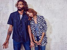 #ESPRIT #Spring #Lookbook #menswear #denim #shirt #womenswear #style  #poncho #cape