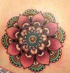 b515a1e16 Mandala Tattoo Design, Lotus Mandala Tattoo, Tattoo Designs, Beautiful  Tattoos, Mandela Tattoo