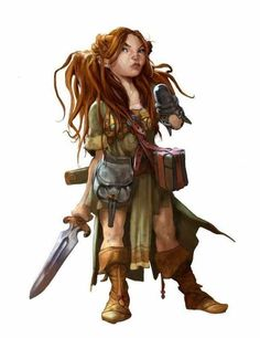 Tagged with fantasy, dungeons and dragons; Dungeons & Dragons: Halflings and gnomes (inspirational) Dungeons And Dragons Art, Dungeons And Dragons Characters, Dnd Characters, Fantasy Characters, Female Characters, Dnd Halfling, Paladin, Halfling Rogue, Female Gnome