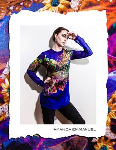 Amanda Emmanuel - Autumn/Winter 2012      SAPPHIRE - Silk Chiffon Blouse    http://www.amandaemmanuel.com/collections/shop/products/sapphire    Exclusively available at Ursula B www.ursulab.com