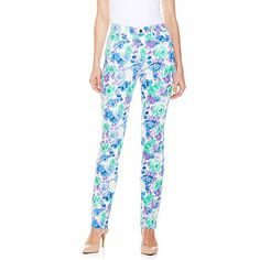 9e21b9e2d02b DG2 by Diane Gilman Multi Floral Skinny Jeans May Flowers