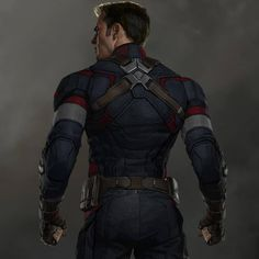 In anticipation of Captain America: Civil War I'll be posting some Cap concept art! This is back view design image from Avengers: Age of Ultron! I worked in a subtle blue star on his back, can you see it? Chris Evans Captain America, Marvel Captain America, Capitan America Marvel, Capitan America Chris Evans, Marvel Comics, Marvel Films, Marvel Heroes, Marvel Characters, Marvel Cinematic