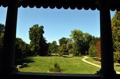 Veduta del parco dal primo piano della villa