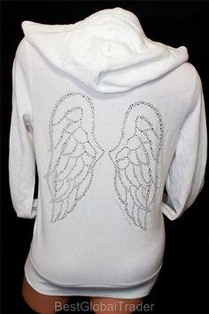 Victoria+Secret+Angel+Wings+Hoodie | Victoria's Secret Bling Supermodel Essentials Angel Wings M Hoodie ...