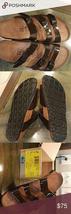 Nip Havana chocolate patent leather Birkis Chocolate Havana Style new in package size 41 birkis Birkis Shoes Sandals