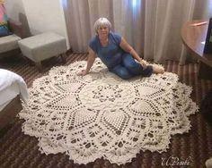 PATRONES GRATIS DE CROCHET: Patrón gratis de una impresionante alfombra a crochet