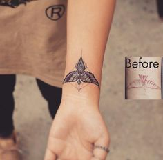 Tattoo placement. Wrist tattoo