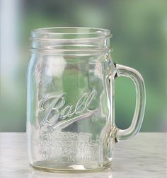 Ball® 16oz drinking jar – just like the canning jars, except with a convenient handle for sipping your favorite drinks