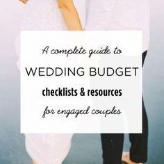 wedding budget checklist resources