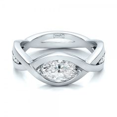 Setting idea for loose diamond - Custom Marquise Diamond Engagement Ring #100824
