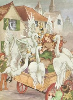Rene Cloke - The six swans Art And Illustration, Illustrations, Botanical Illustration, Vintage Fairies, Fairytale Art, Gif Animé, Pics Art, Fantasy Art, Fairy Tales