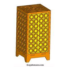 Laser Cut Light Box Table Lamp Image
