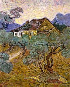 Vincent van Gogh White Cottage among the Olive Trees