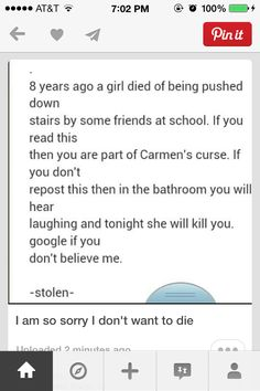 Sorry but I didn't really wanna die and I feel really sorry for the girl her friends were jerks