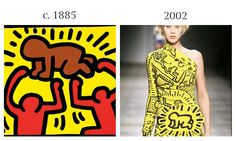 """""""Radiant Child"""" by Keith Haring, c. 1985 and Jean-Charles Castelbajac SS 2002"""