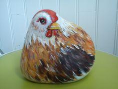 Chicken rock painting.