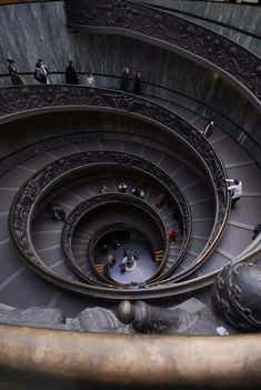 Stairs at the entrance of the Vatican Museum, Rome, Italy.
