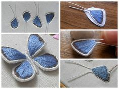 How to embroider butterfly wings The bulk embroidery. How to embroider butterfly wings, bee and rabbit ears