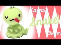 Kawaii Snake Polymer Clay Charm Tutorial