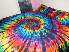 Custom Tie Dye Duvet Cover Set, tie dye duvet, tye dye duvet, comforter set, bed set