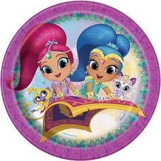 Shimmer and Shine 9 Inches Dinner Plates [8 per Pack]