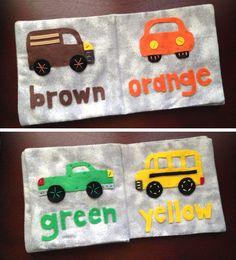 Children's Quiet Book - Colors of Cars