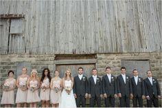 rustic wedding photos at a barn