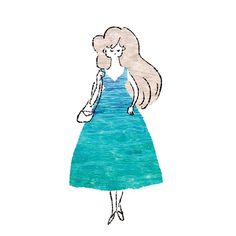 dress for summer  #illustration #drawing #design