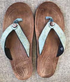 68afe4f48f30c KEEN Womens Blue Thong Flip Flops Sandals Size 9  KEEN  FlipFlops  Casual