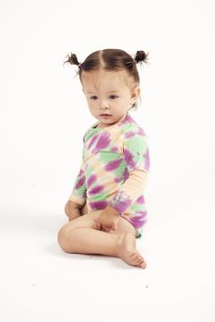 "Lizzie body tie dye Wildkind Kids ""Hippie Ever After"" Baby Body, Ever After, Cute Kids, High Fashion, Organic Cotton, Onesies, Tie Dye, Unisex, Long Sleeve"