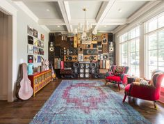 Rachel and Ryan's Nashville home is full of eclectic items from family members and travels home and abroad. Welcome to their imaginative space.