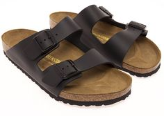 Birkenstock Natural Leather Arizona 2-Strap Sandal, 'Smooth Black Leather', (40 M EU - 9-9.5 US Women) > Wow! I love this. Check it out now! : Birkenstock sandals