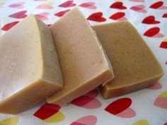 Oatmeal milk and honey soap - milk in oil method - from #lovingsoap.com