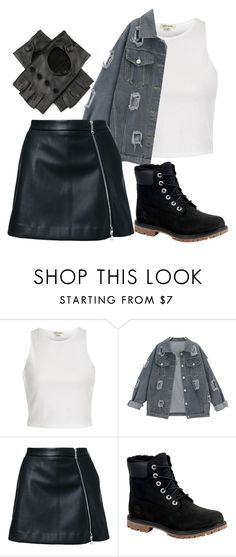 """""""Go for the chic look"""" by mareehamasood246 on Polyvore featuring River Island, Guild Prime, Timberland and Black"""