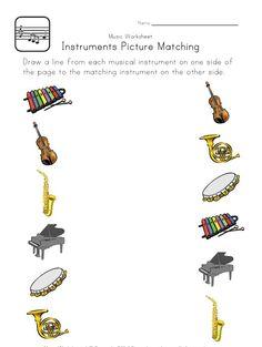 Musical instruments worksheet for kids | Crafts and Worksheets for Preschool,Toddler and Kindergarten