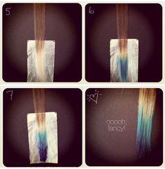 DIY: Como tingir as pontas dos cabelos em degradê colorido! - SOS Cabelos - CAPRICHO