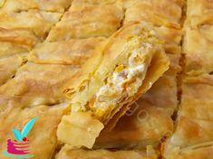 ΘΕΙΚΗ ΤΥΡΟΠΙΤΑ ΜΕ ΚΙΤΡΙΝΗ ΚΟΛΟΚΥΘΑ - Νόστιμες συνταγές της Γωγώς! Snack Recipes, Snacks, Spanakopita, Apple Pie, Cabbage, Pizza, Chips, Vegetables, Ethnic Recipes