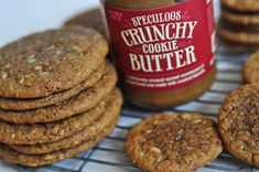 Coach's Oats and Trader Joe's Speculoos Cookie Butter.this coomie recipe looks like a winner! Oat Cookie Recipe, Speculoos Cookie Butter, Biscoff Cookies, Cinnamon Cookies, Oatmeal Cookie Recipes, Oatmeal Recipes, No Bake Cookies, Oatmeal Cookies, Soft Baked Cookies