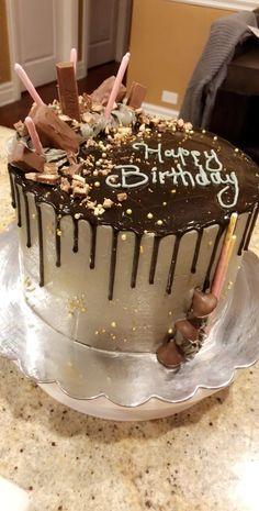 Birthday Cake For Father, Birthday Cake Writing, Candy Birthday Cakes, Unique Birthday Cakes, Boyfriend Birthday Cake, 39th Birthday, Chocolate Birthday Cake Decoration, Birthday Cake Decorating, Chocolate Birthday Cakes