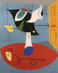 MODERNIST ART: Stuart Davis, was an early American modernist painter. He was well known for his jazz-influenced, proto pop art paintings of the 1940s and 1950s, bold, brash, and colorful, as well as his ashcan pictures in the early years of the 20th century.