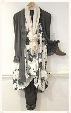 Myrine dress, £91.50 Myrine cardigan, £107.50 Charli trousers, £104 Cara boots, £99 Sandwich scarf, £19  http://www.exivboutique.co.uk/