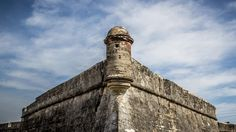 South West Bastion of the Castillo with cloudy sky in the background Castillo de San Marcos National Monument Florida