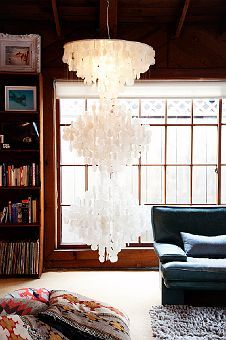 Chandelier / this light is beautiful. shot by Todd Selby at the home of Eileen Peters & Mark Wiesmayr.