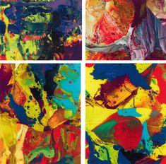 Lack hinter Glas; ungerahmt 33 x 44 cm (P8); 49,5 x 40 cm (P9); 49,5 x 40 cm (P10); 37 x 50 cm (P11) Schätzpreis: 18000 - 30000 € Modern Art, Contemporary Art, Bagdad, Gerhard Richter, 49er, Art Nouveau, Marian Goodman, December, Auction
