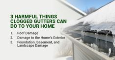 3 Harmful Things Clogged Gutters Can Do to Your Home