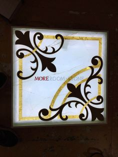 backlit waterjet onxy inlay with glass becking #marblemedallion #waterjetmarble #marbleinlay #marblewalldesifn #backgroundwallmarble #waterjetmarbletile #waterjetmarbleforwall