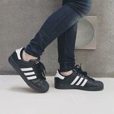 promo code c172a f0f18 Adidas Originals Super Star Black and White